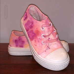 Other - Hand Painted Graffiti Flower Sneakers